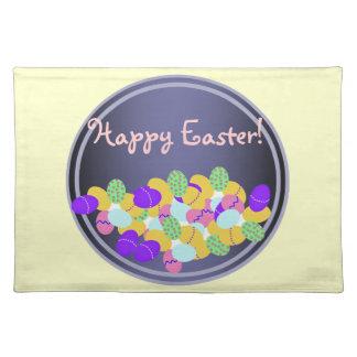 Estera de lugar feliz de Pascua Mantel Individual