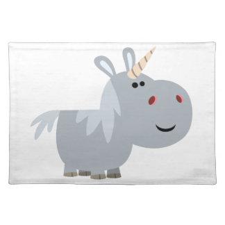 Estera de lugar inescrutable linda del unicornio mantel individual