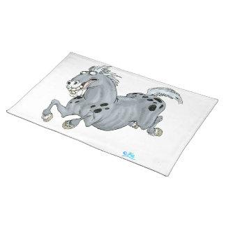 Estera de lugar loca del caballo del dibujo manteles individuales