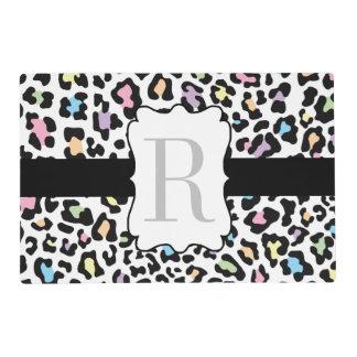 Estera de lugar multi de los colores del estampado tapete individual