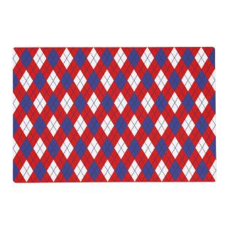 ESTERA de LUGAR roja, blanca, azul de Argyle Salvamanteles