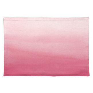 Estera de lugar rosada del lavado de la acuarela manteles individuales