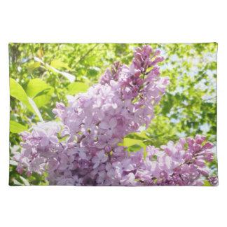 Estera de lugar suave de las lilas mantel
