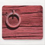 Estera de madera roja rural rústica del ratón del  tapetes de ratones