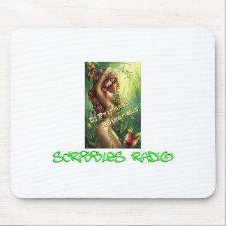 Estera de princesa Poisonous Scribbles Radio Mouse Tapete De Ratones