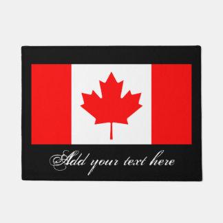 Estera de puerta canadiense de la bandera con felpudo