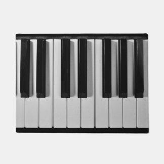 Estera de puerta de encargo del teclado de piano felpudo