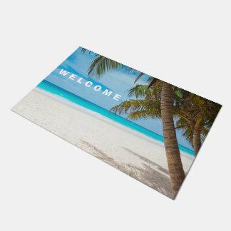 Estera de puerta de la playa felpudo