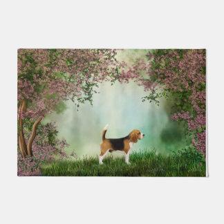 Estera de puerta del beagle felpudo