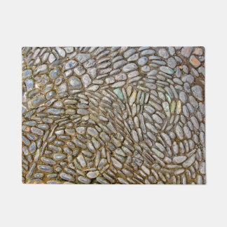 Estera de puerta del mosaico de la roca felpudo