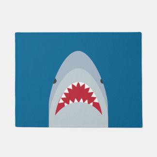 Estera de puerta del tiburón felpudo