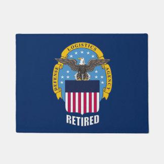 Estera de puerta jubilada escudo de la agencia de felpudo