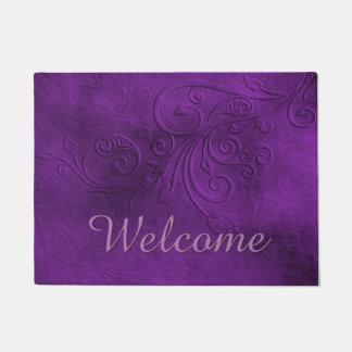Estera de puerta púrpura elegante de la recepción felpudo