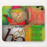Estera de tabla enrrollada del navidad alfombrillas de raton