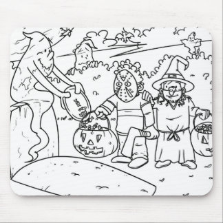 Estera del ratón de Halloween Tapetes De Ratón