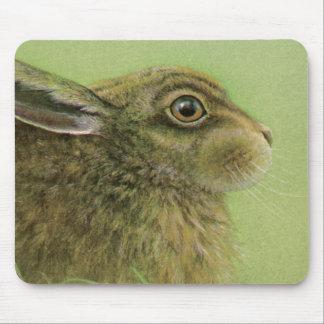 Estera del ratón de la bella arte del conejo alfombrilla de raton