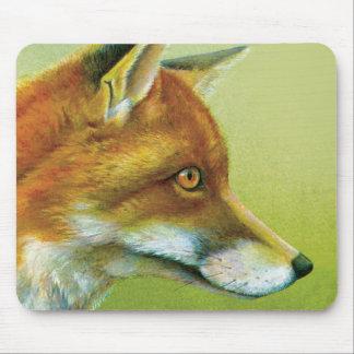 Estera del ratón de la bella arte del Fox Tapetes De Ratones