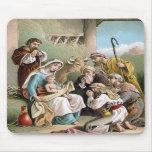 Estera del ratón de la escena de la natividad tapete de ratones