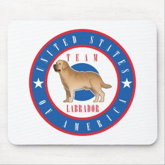 Estera del ratón de Labrador del equipo Tapetes De Ratones