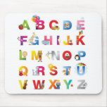 Estera del ratón del alfabeto de los niños alfombrilla de ratones