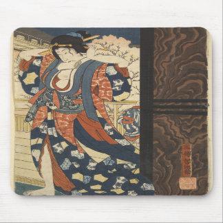Estera del ratón del chica de geisha alfombrilla de ratones