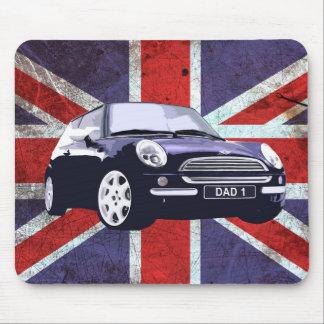 Estera del ratón del coche de Union Jack del día d Tapetes De Ratón