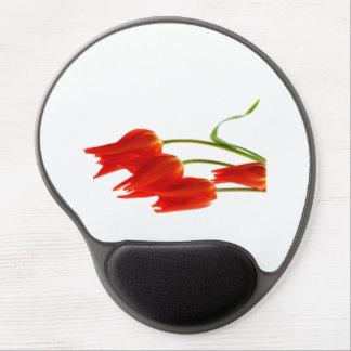 Estera del ratón del gel de los tulipanes alfombrillas de raton con gel