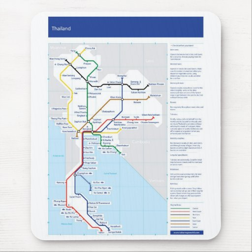 Estera del ratón del mapa del tubo de Tailandia Alfombrilla De Ratones