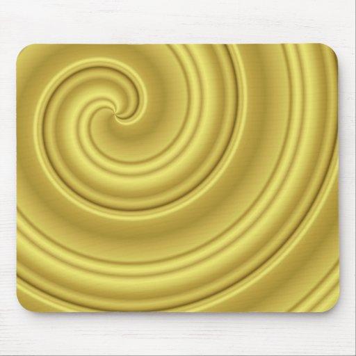 Estera del ratón del oro que tuerce en espiral (ii tapete de ratón