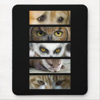 Estera del ratón - ojos de los animales alfombrilla de raton
