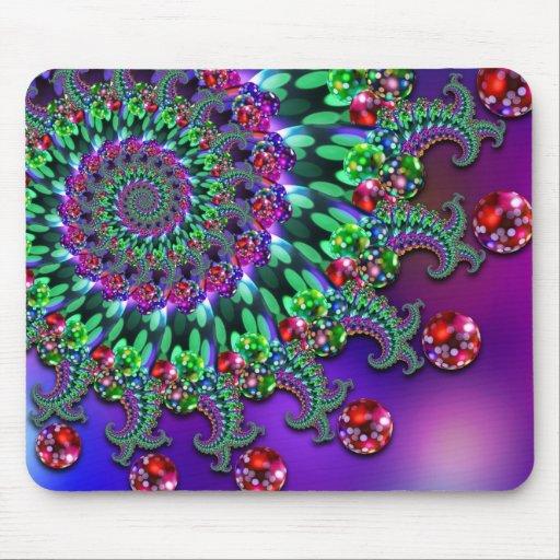 Estera del ratón - púrpura Terquoise del fractal d Tapete De Raton