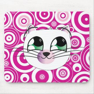 Estera feliz del ratón del gato mousepad
