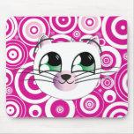 Estera feliz del ratón del gato tapete de raton