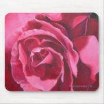 Estera floral color de rosa rosada del ratón tapetes de raton