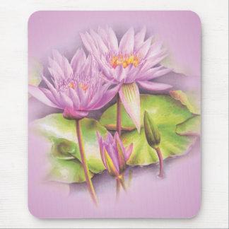 Estera floral del ratón de la bella arte púrpura tapete de raton