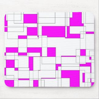 Estera geométrica del ratón de las rosas fuertes mousepads