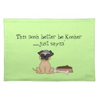 Estera judía del Humor-Perro del perro del barro a Manteles Individuales