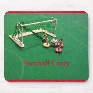 Estera loca del ratón del fútbol tapete de ratones