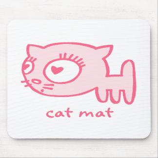 estera Mousepad del gato del Gato-uno-portero