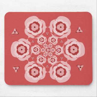 Estera rosada linda del ratón de la meditación de  alfombrillas de ratones