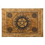 Estera sagrada del altar de Pentangle de la brujer Mantel Individual
