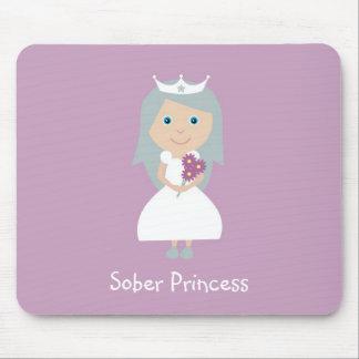 Estera sobria del ratón de la princesa alfombrilla de raton