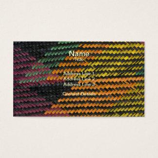 Estera tejida africana de la paja tarjetas de visita