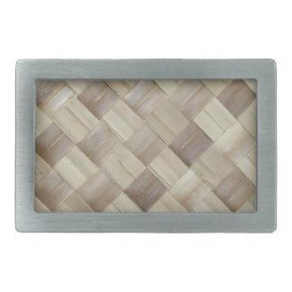 Estera tejida de la palma hebilla de cinturón rectangular