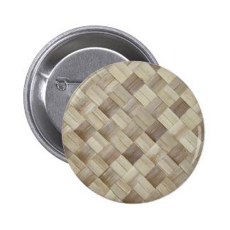 Estera tejida de la palma pin redondo 5 cm