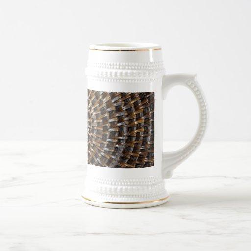 Estera tejida taza de café