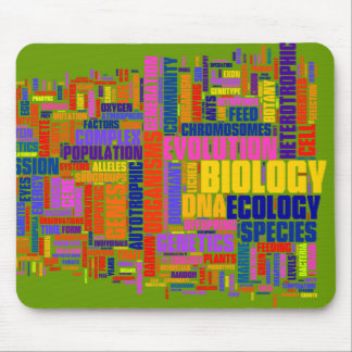 Estera vibrante del ratón de Wordle de la biología Alfombrilla De Raton