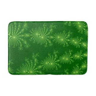 Esteras de baño modeladas arte verde del fractal