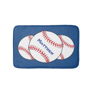Esteras de baño patrióticas del béisbol