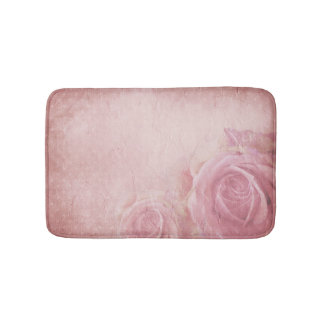 Esteras de baño rosadas de los rosas del vintage